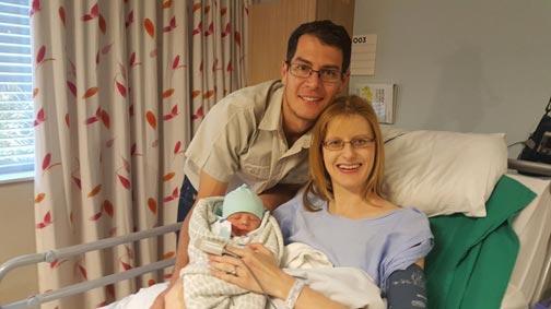 Gretel en Gerald met Ludwig. Hy is gebore op 6 Mei 2018